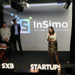 CEO, Jérémie Allard, presenting InSimo and the Project diSplay at Strasbourg Startups Meetup