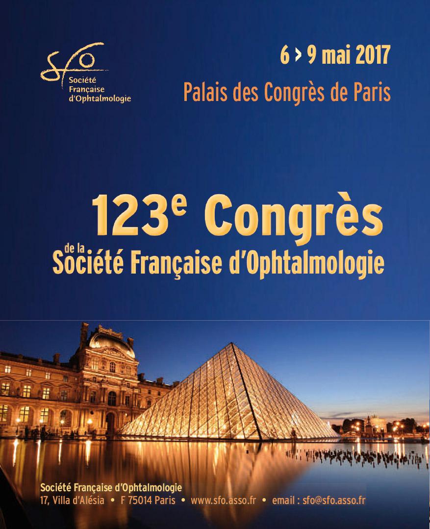 123ème Congrès de la Société Française d'Ophtalmologie, 2017