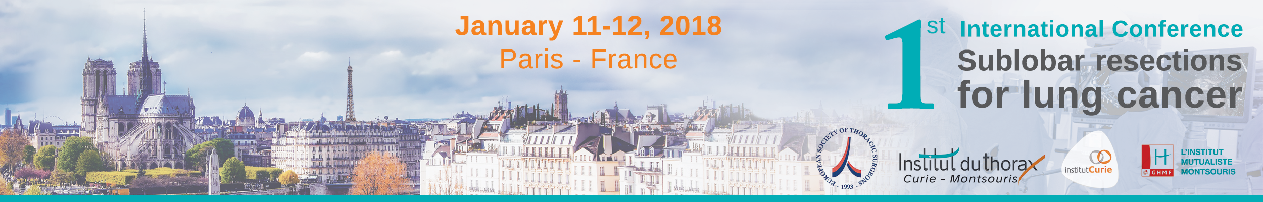 1st International Conference Sublobar resections for lung cancer, 2018 - Banner